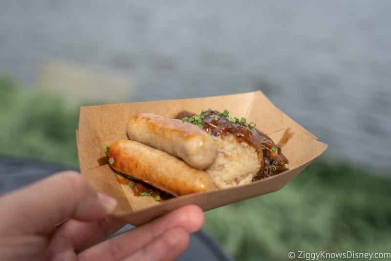 Ireland Review 2018 Epcot Food and Wine Festival roasted Irish sausage