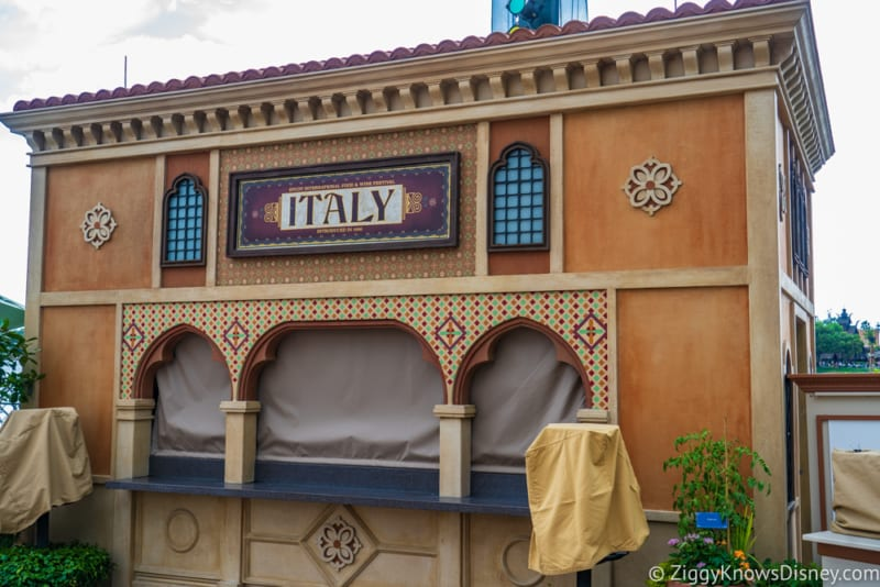Italy Review 2019 Epcot Food and Wine Festival booth