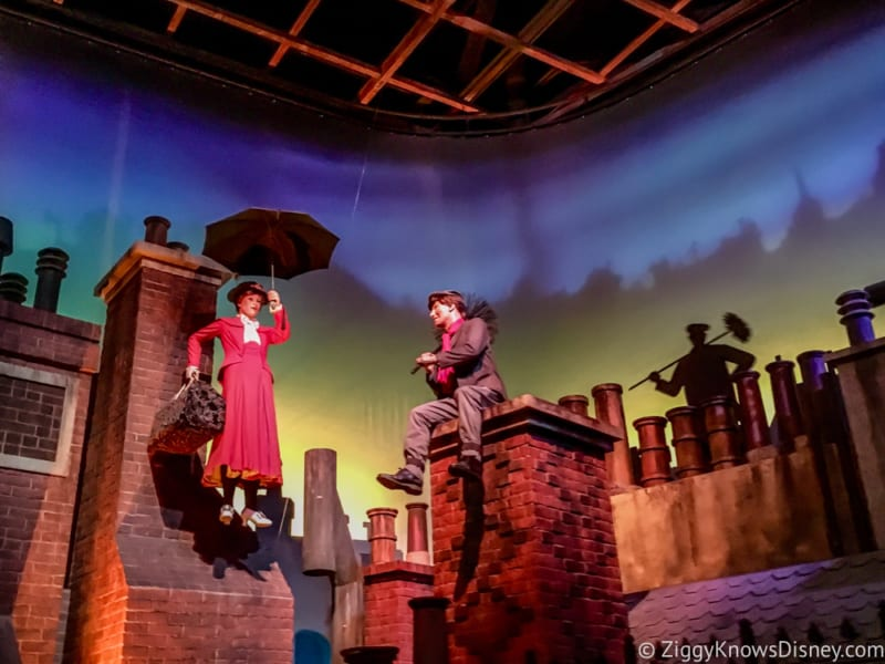 Mary Poppins Spinner Attraction in Development Epcot UK Pavilion