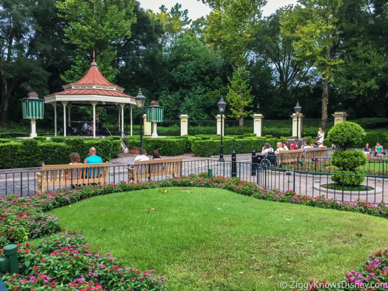 Mary Poppins Spinner Attraction in Development Epcot UK pavilion gardens