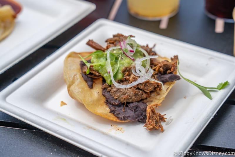 Mexico Review 2018 Epcot Food and Wine Festival short rib tostada