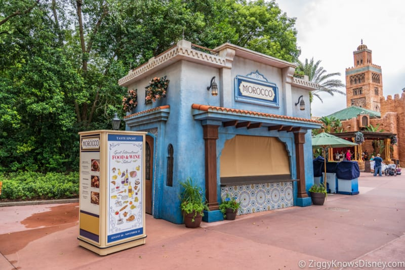 Morocco Review 2018 Epcot Food and Wine Festival booth