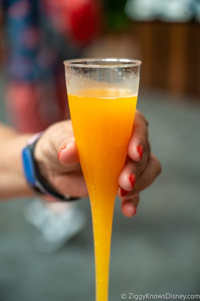 Shimmering Sips Mimosa Bar Review 2018 Epcot Food and Wine Festival Tropical Mimosa