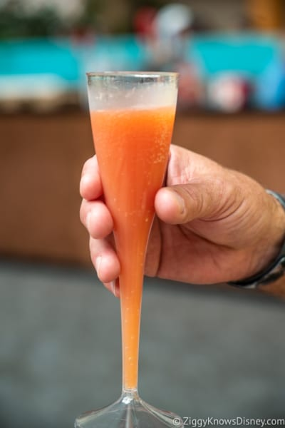 Shimmering Sips Mimosa Bar Review 2018 Epcot Food and Wine Festival Blood Orange Mimosa