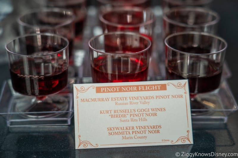 The Festival Wine Shop Review 2018 Epcot Food and Wine Festival pinot noir flight