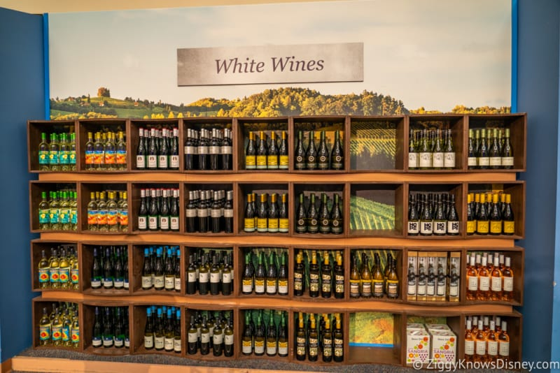 The Festival Wine Shop Review 2018 Epcot Food and Wine Festival White Wines